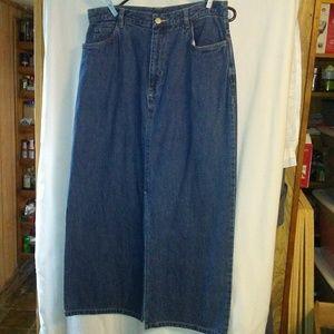 WP153 St. John's Bay 12 Denim Maxi Skirt